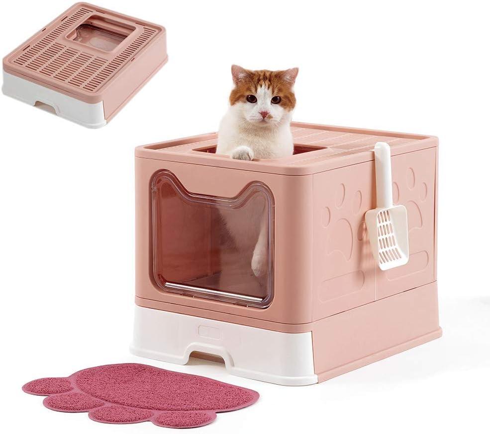 SPRICHIC Foldable Cat Litter Washington Mall Box - Japan's largest assortment Top Entry Large E Front