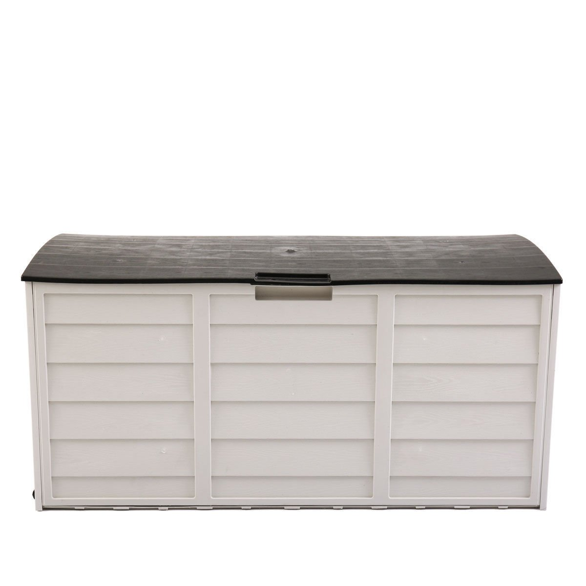 JAXPETY 79 Gallon Outdoor Garden Storage Shed Patio Garage Tool Box Backyard Deck Cabinet