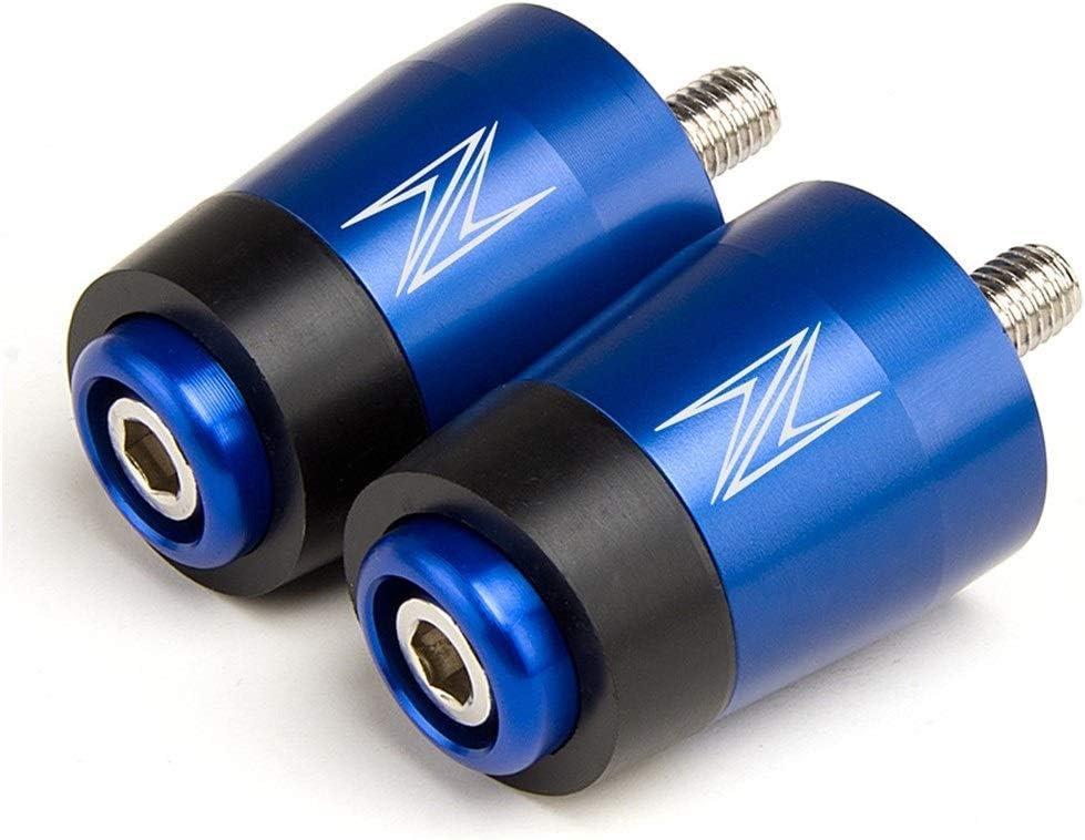 for Kawasaki Z400 2019-2020 Z750 Z800 Z900 Z900RS Z1000 Z1000SX Motorradzubeh/ör Lenker Grip End Griff Girps Cap Color : Black