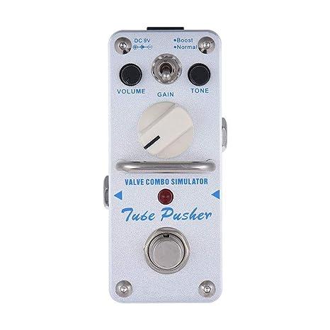 ATP-3 Tubo Pusher Válvula Combo Simulador Eléctrico Efecto Guitarra Pedal Mini Efecto Único con