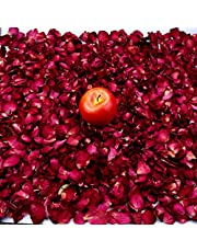 Heatoe 200 Grams Dried Rose Petals Natural Real Red Rose Flower Petals for Wedding Party, Decoration, Bath, Foot Bath and Confetti Crafts Accessories, 4 Pack
