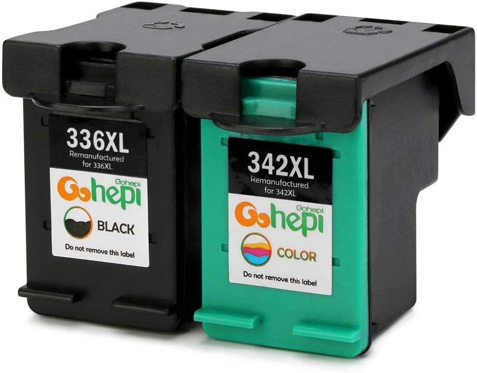 Gohepi Cartuchos de tinta remanufacturados Hp 336 342 compatibles ...