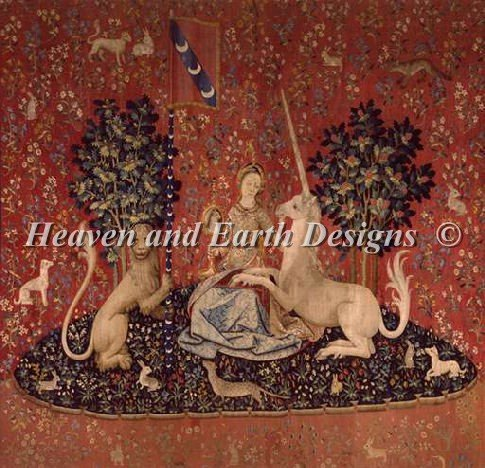 Heaven And Earth Designs(HAED) 刺繍 クロスステッチ キット The Lady and the Unicorn - Sight [並行輸入品] B013GGG8U0