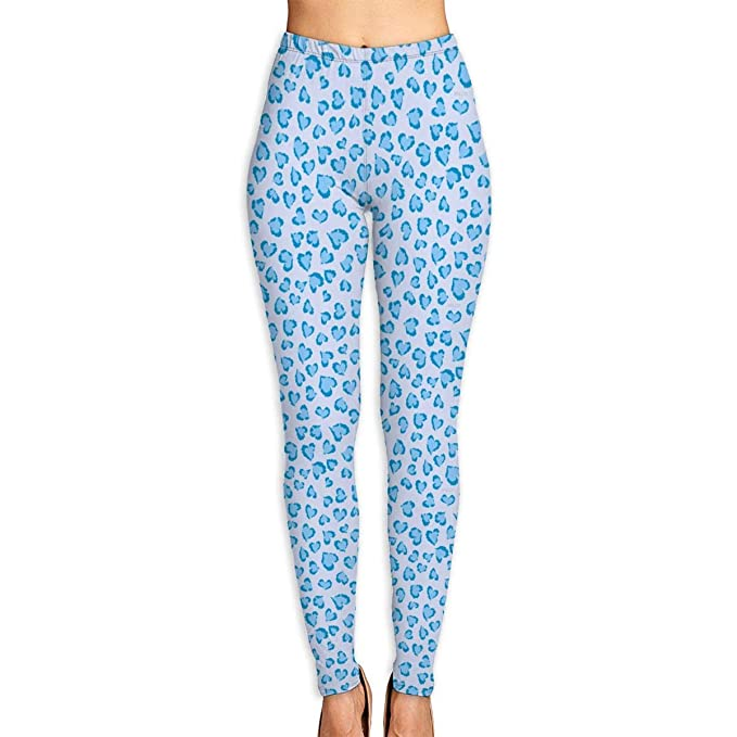 e70bb60d19d5 Amazon.com: PENGTU Blue Heart Leopard Print Yoga Leggings Elegant Women's  Soft Tight Yoga Leggings: Clothing