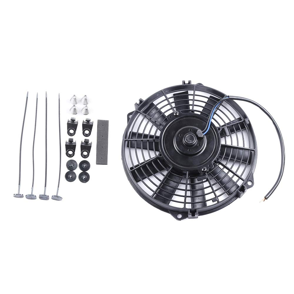 "ECCPP 8"" inch Push Pull Slim Electric Radiator Cooling Fan Mount Kit Universal Plastic Black"