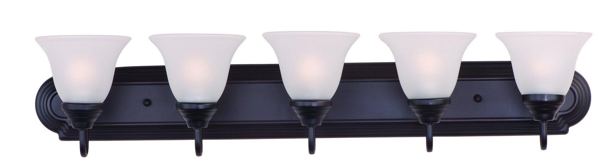 Maxim Lighting 8015 Essentials 801x Bath Vanity Light Fixture, Oil Rubbed Bronze Finish, 36-Inch by 7-Inch