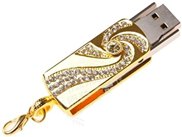 47b6bbbf9 Microware Golden Crystal Stone Fancy Designer 32GB Pen Drive - Buy  Microware Golden Crystal Stone Fancy Designer 32GB Pen Drive Online at Low  Price in India ...