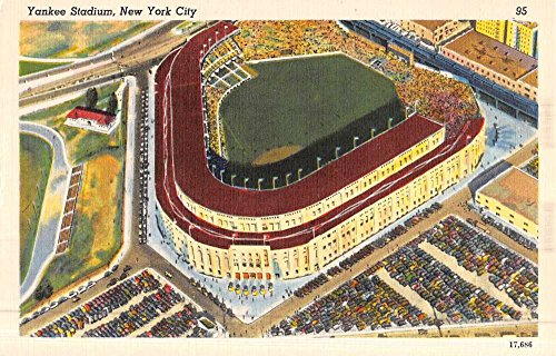 New York City Yankee Stadium Aerial View Antique Postcard K49708