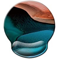 ITNRSIIET [30% Larger] Mouse Pad, Ergonomic Mouse Pad with Gel Wrist Rest Support, Gaming Mouse Pad with Lycra Cloth, Non-Slip PU Base for Computer Laptop Home Office, Abstract Marbling