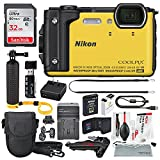Nikon COOLPIX W300 Digital Camera (Yellow) w/ WiFi and Deluxe Adventure Bundle with 32GB + Case + Floating Grip +Battery + Xpix Cleaning Kit + More
