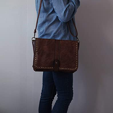 4ba017bd6c Chapeau-tendance - Sac a main bandoulière vintage camel - - Femme:  Amazon.fr: Chaussures et Sacs