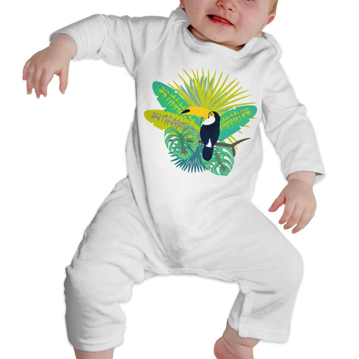 TYLER DEAN Baby Boy Girl Long Sleeved Coveralls Toucan Bird Kid Pajamas