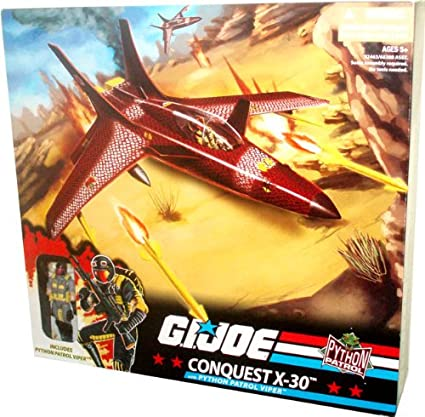 GI Joe Python Patrol Cobra Vehicle Set - CONQUEST X-30 with Openable  Canopy, Removable Missiles, Removable Bombs, Fold-Up Landing Gear plus  Bonus 4