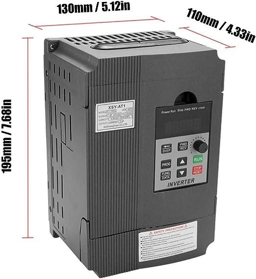 Regolatore di Velocit/à Frequenza Vfd Universale 1,5Kw 12A 220 V Ac Motor Drive Monofase in Trifase Out Inverter Variabile At1-1500S Baugger Inverter Universale Variabile