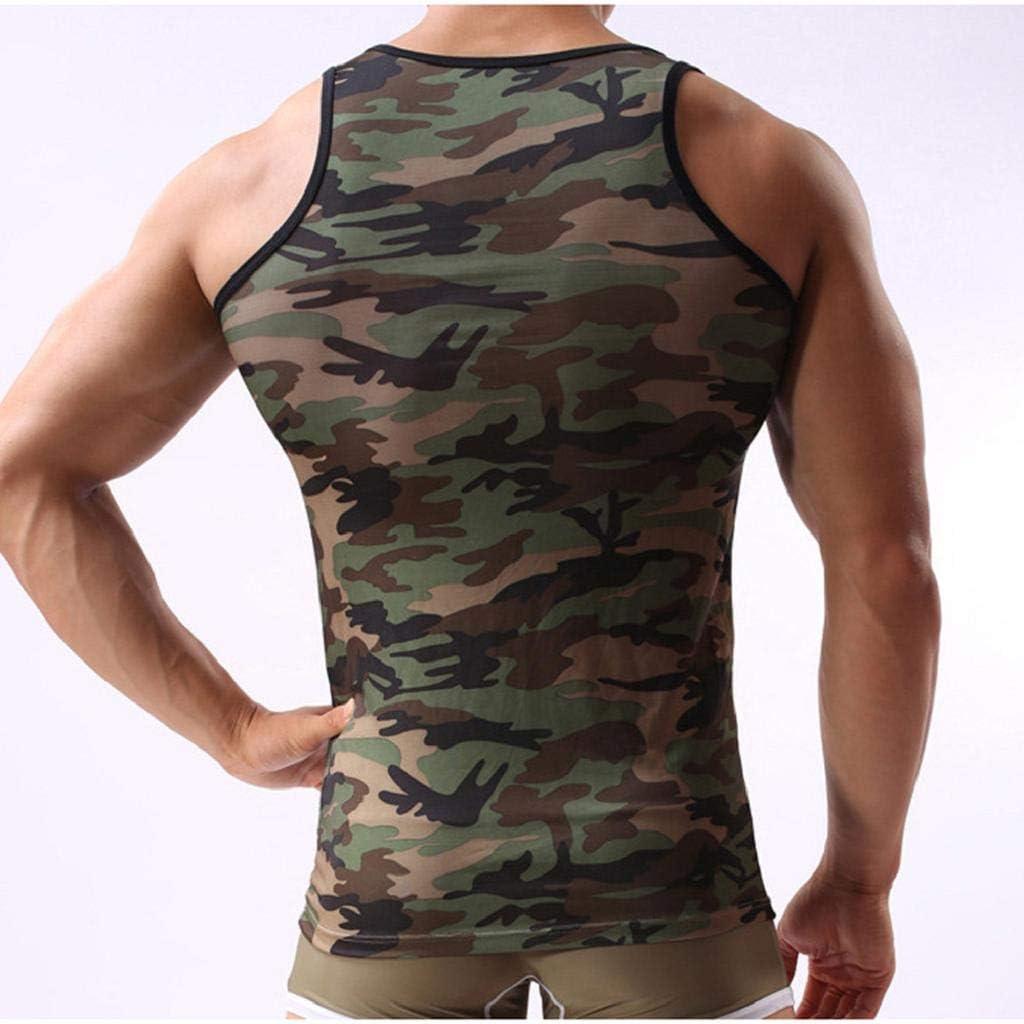 Camiseta sin mangas para hombre, estilo militar, de camuflaje ...