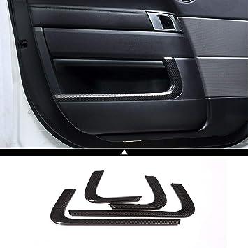 2PCS Carbon Fiber Seat Handle Panel Cover Trim For Range Rover Sport 2014-2017