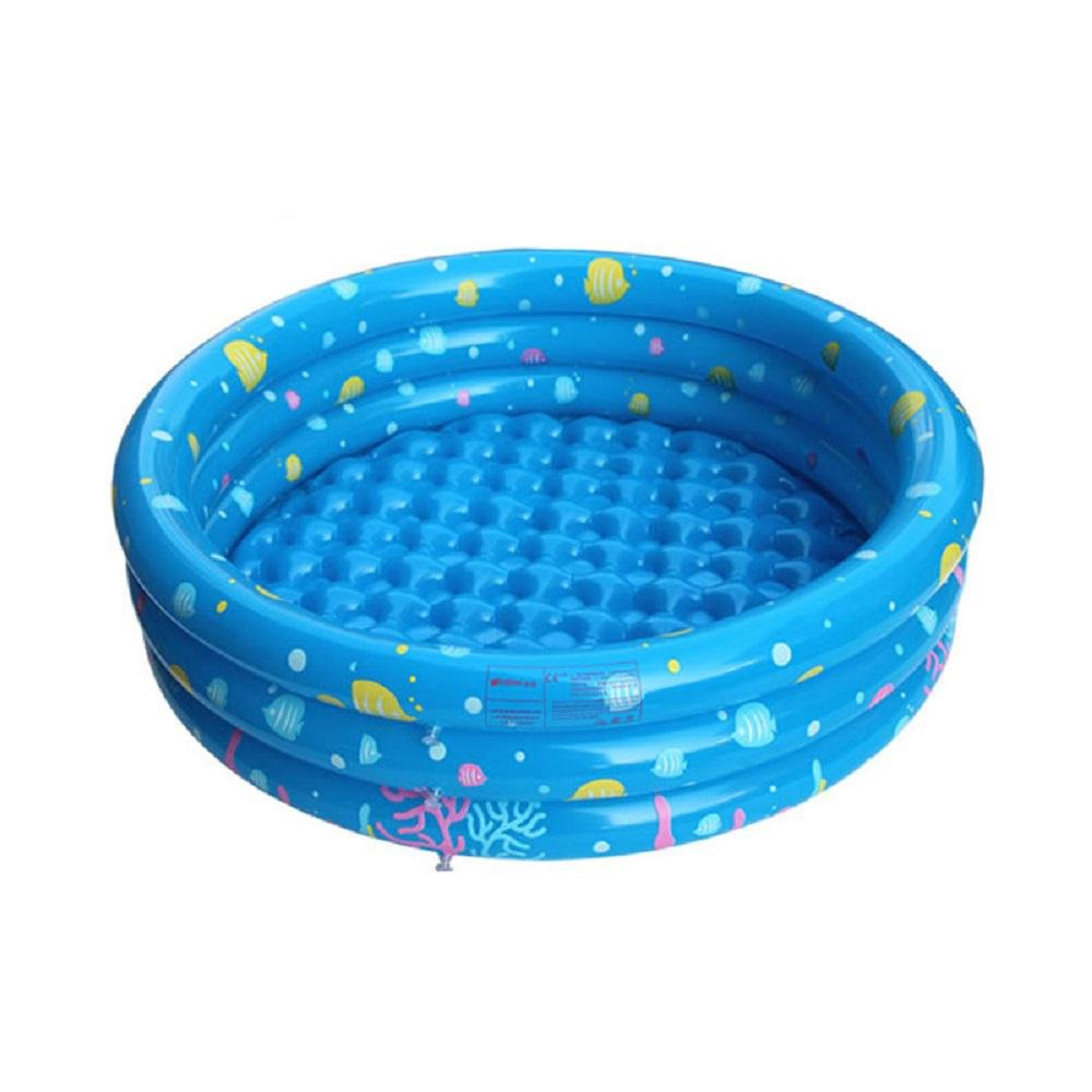 Kinderplanschbecken Hause PVC aufblasbaren Pool Kinder verdickte 0-4 Jahre alt Baby-Spielzeug Ball-Pool , blue , 150cm