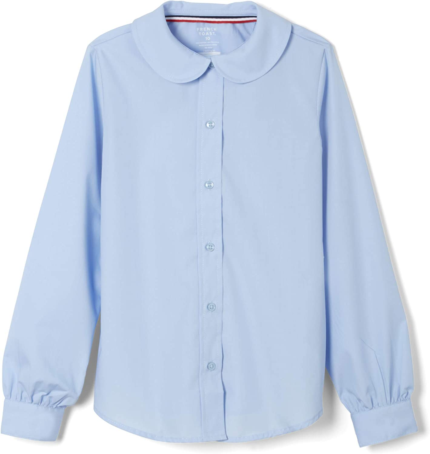 French Toast Girls Long Sleeve Woven Blouse with Peter Pan Collar Standard /& Plus