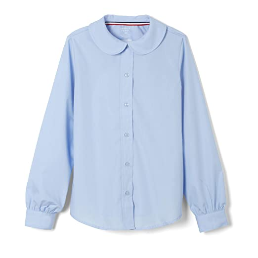 6fe10a7aa29bf9 French Toast Girls' Toddler' Long Sleeve Modern Peter Pan Collar Blouse,  Light Blue