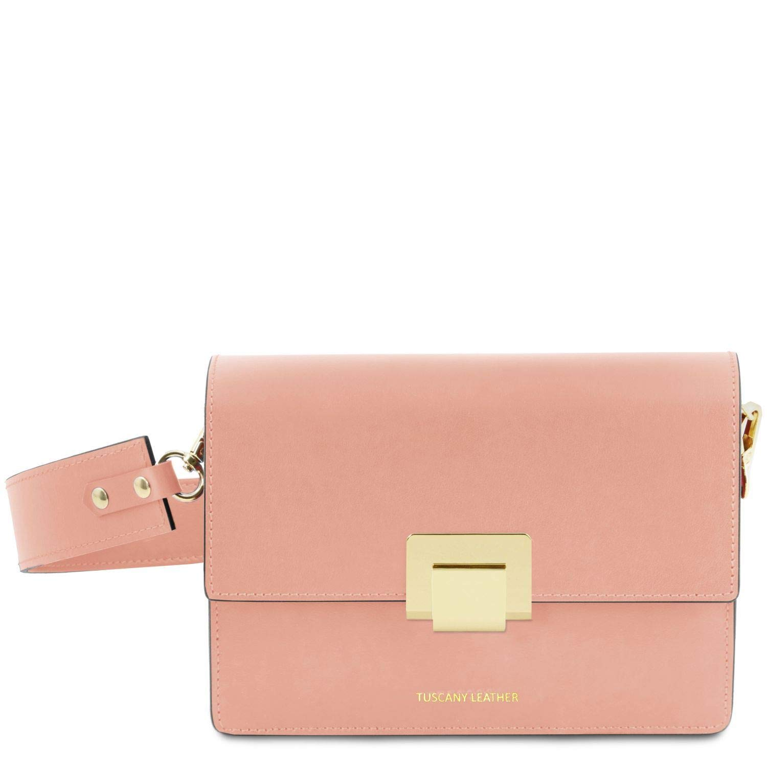 Ballet Pink Tuscany Leather Adele Leather Clutch  TL141742 (Ballet Pink)