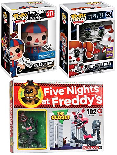 Five Nights at Freddy's The Closet Small McFarlane Construction Set 102 Pcs + FNoF Funko Pop! Exclusive Figures Balloon Boy & Jumpscare Baby SDCC Sister - Chicago Locations Target
