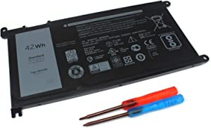 42WH WDX0R Notebook Battery for Dell Inspiron 13 5368 5378 5379 7368 7378 14 7460 Inspiron 15 5565 5567 5568 5578 7560 7570 7579 7569 P58F Inspiron 17 5765 5767 FC92N 3CRH3 T2JX4 CYMGM