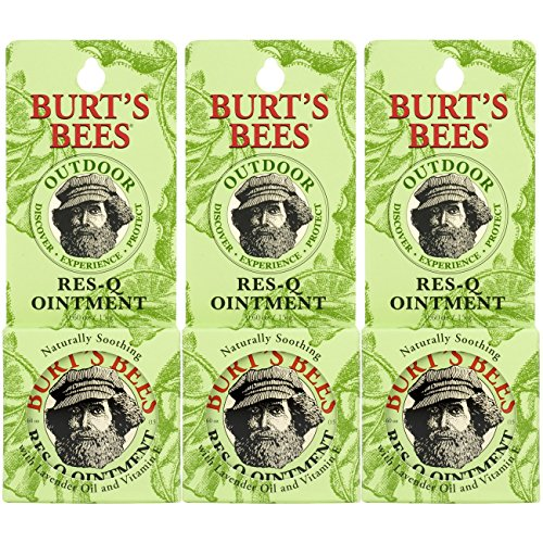 Burt's Bees 100% Natural Res-Q Ointment, Multipurpose Balm - 0.6 Ounce Tin (Pack of (Res Q Ointment)