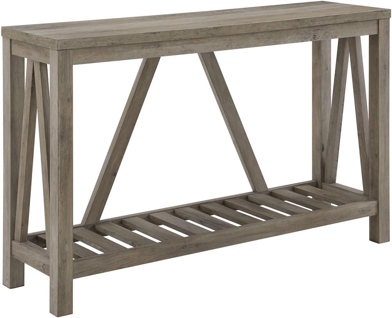 """Walker Edison Furniture Company 52"""" Modern Farmhouse Entryway Table - Grey Wash"""