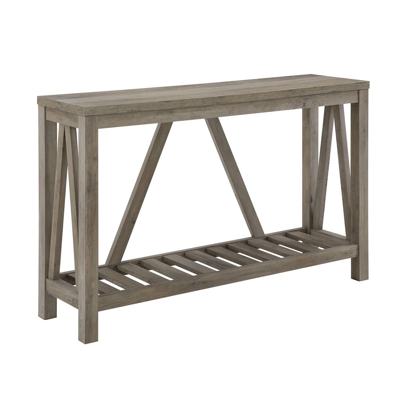 Walker Edison Furniture Company 52'' Modern Farmhouse Entryway Table - Grey Wash by Walker Edison Furniture Company