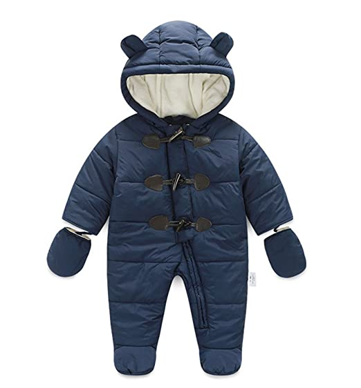 dbbcb8564439 Image Unavailable. Image not available for. Color  Ikerenwedding Baby  Hoodie Down Jacket Jumpsuit Snuggly SnowSuit ...