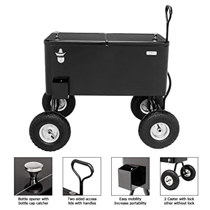 Amazon.com: VINGLI 80 Quart - Cofre de hielo enrollable con ...