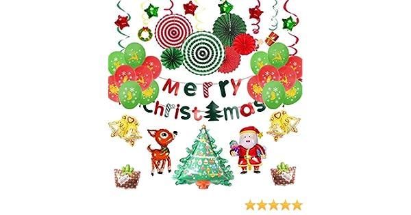 EEM Kit de Globos de Decoraciones navideñas 42 PCS - Feliz Navidad ...