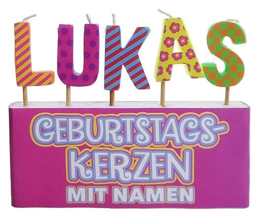YesBox Cumpleaños Velas: Letras Juego de Lukas: Amazon.es: Hogar