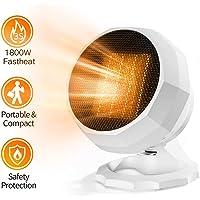 UBUYONE 1800W/1000W Electric Portable Space Heater