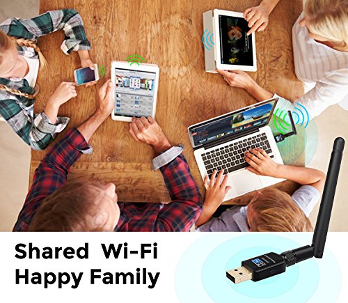 Etio Wireless USB Wifi Adapter - 600M Dual Band (2.4G/150Mbps+5.8G/433Mbps), USB WiFi Network Dongle Adapter, Support Windows XP/Vista/7/8/10 MacOS by Etio (Image #6)