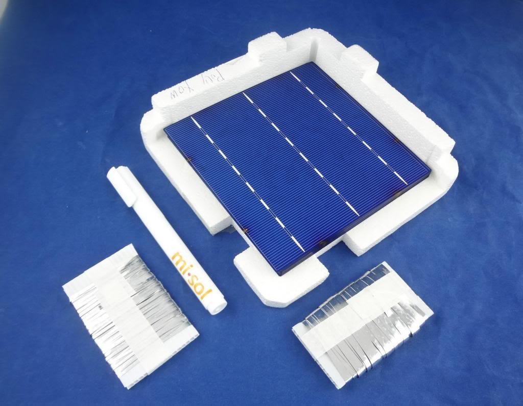 MISOL POLY 6X6 DIY KIT for solar panel: 40pcs POLY 6X6, Flux Pen, Tabbing Bus wire/polykristalline Solarzelle für Solarpanel