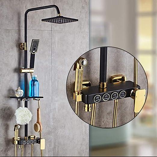 Kit de cabezal de ducha | Boquilla superior cuadrada + columna de ...