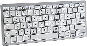 Canadian French Language Functional Shortcuts Hotkey Wireless Bluetooth Keyboard for Dell Thinkpad iMac MacBook Pro,iPad Pro 11 12.9, iPad Air Mini,iPhone X XS XR MAX Surface Pro 4 5 6 7 Studio