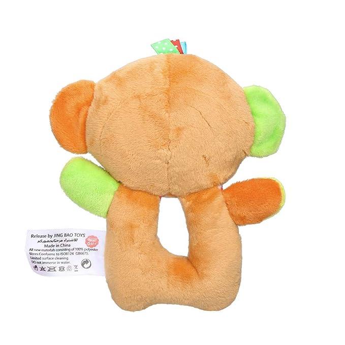 Amazon.com: LtrottedJ Infant Baby Soft Stuffed Hand Bells Animal Handbell Rattles Handle Toys for Kids (Orange): Toys & Games