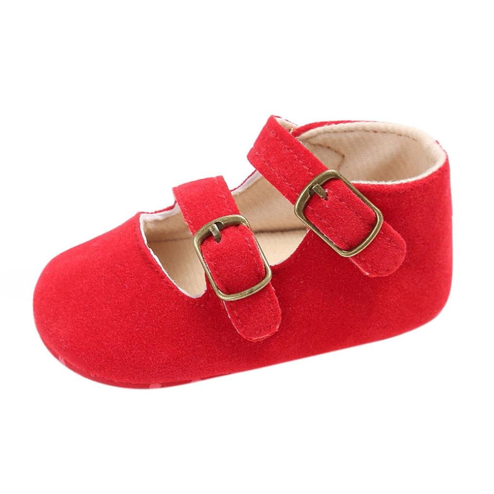 Voberry® Baby Girls' Crib Moccasins Cute Soft Sole Sneakers Mary Jane Flat Shoes