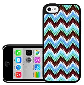 Burgundy and Teal Zig-Zag Chevron Pattern Hard Snap on Phone Case (iPhone 5c)