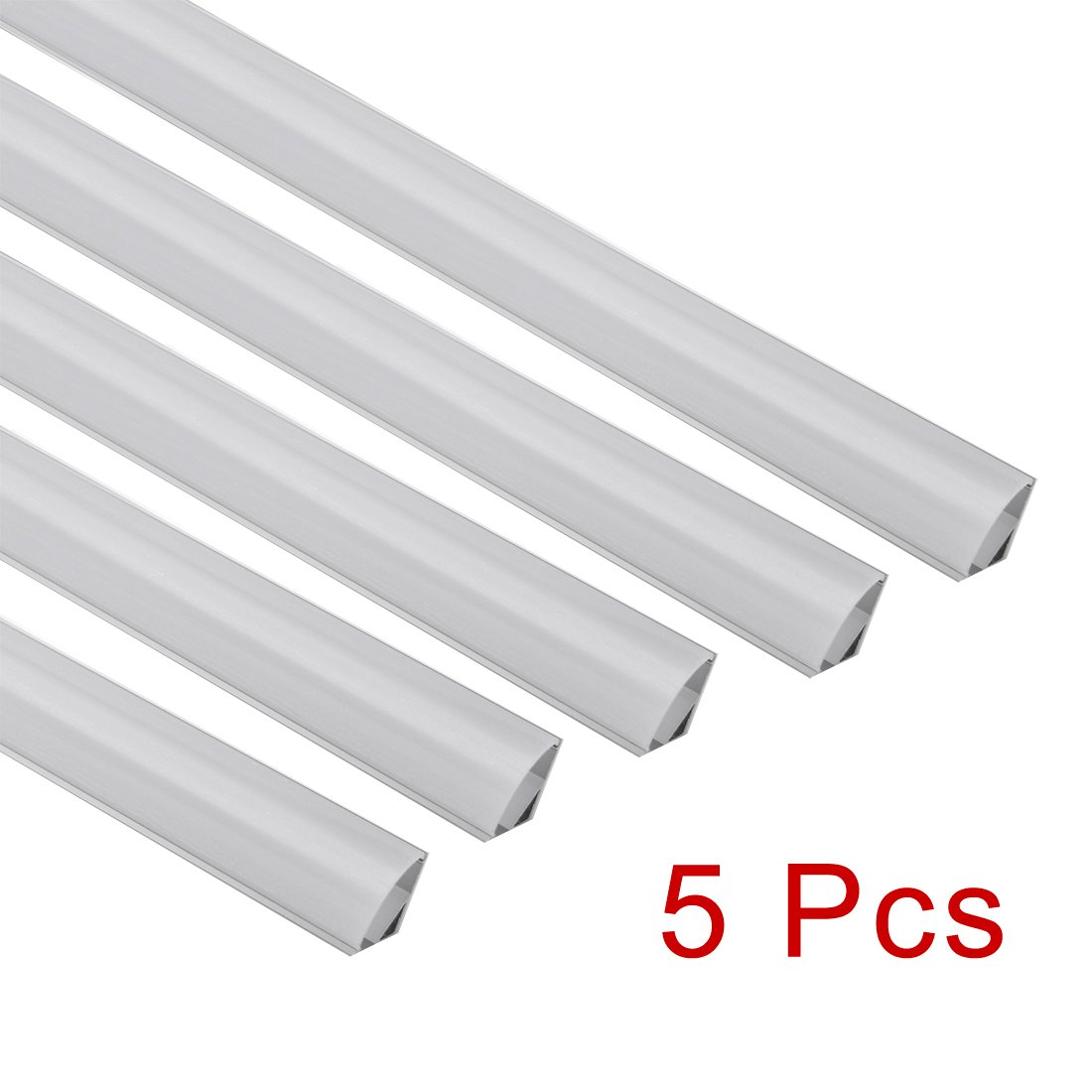 - 5 Packs a17042700ux0863 CN610, 0.5mx15.55mmx5.9mm uxcell Aluminum LED Channel 0.5Meter//1.64ft Led Channels and Milky Covers with End Caps and Mounting Clips for LED Flexible Light Strip Mounting