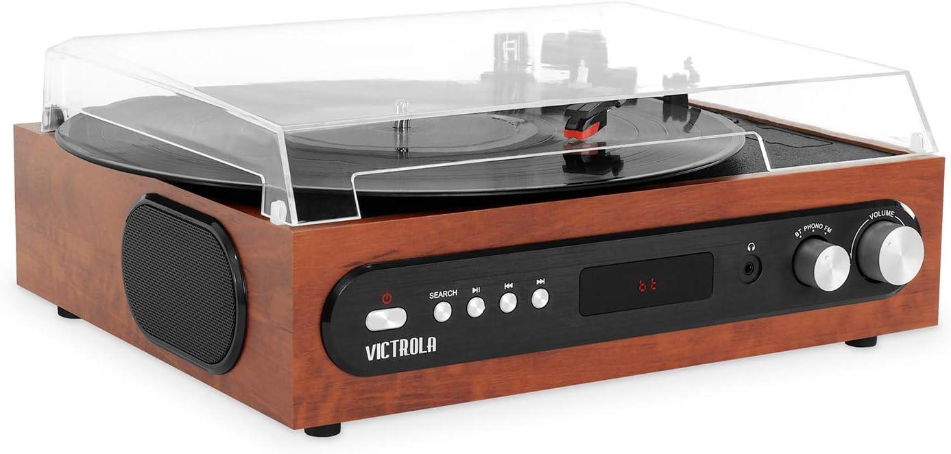 Amazon.com: Victrola - Reproductor de música todo en uno con ...