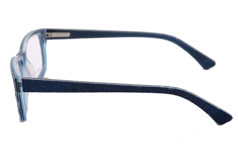 UOOUOO Denim and Acetate Frame Blue Light Blocking Glasses Anti-fatigue Clear Lens Clear Lens Computer Eyewear-006