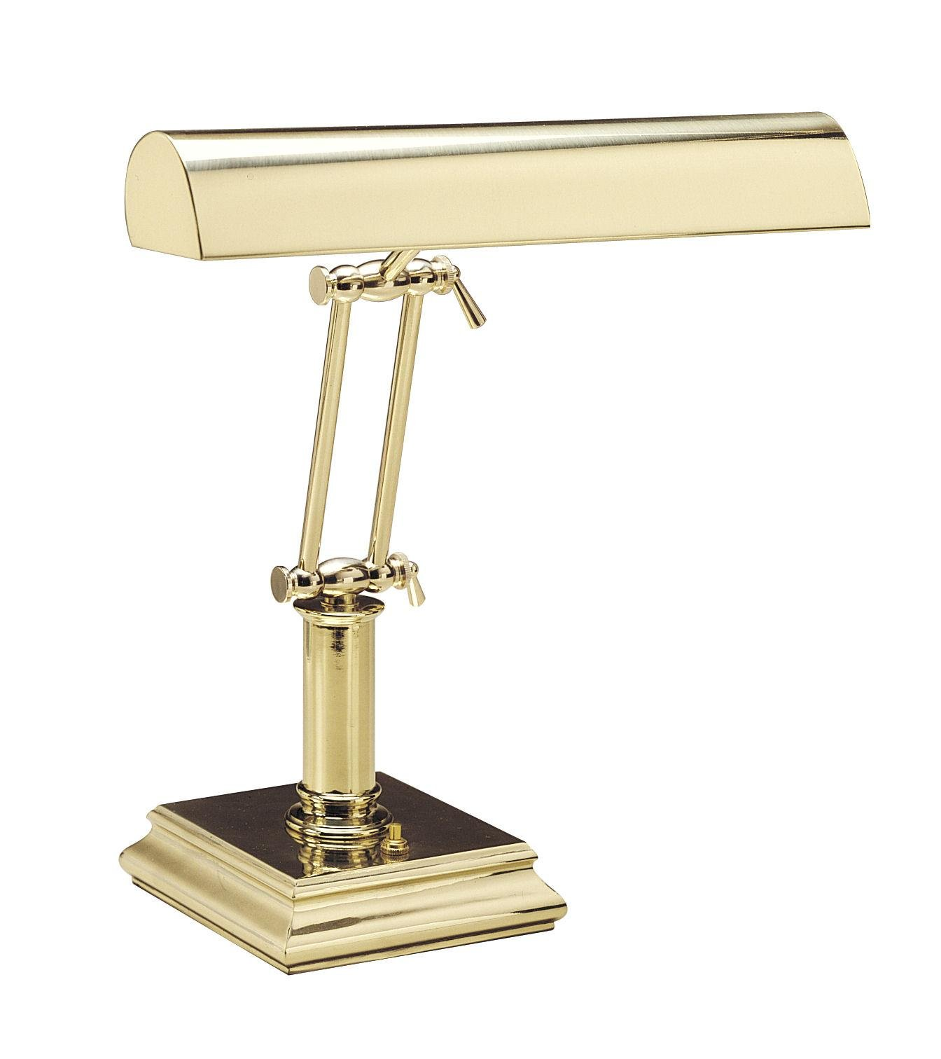 House of Troy P14-201 14-Inch Portable Desk/Piano Lamp Polished Brass