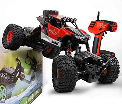 Amazon Com Gizmovine Rc Cars 4wd Rock Crawler Large Size Boys Remote Control Cars And Trucks 2 4ghz Transformer Toy Electronic Monster Truck R C Off Road For Kids 2020 Update Version Red Toys
