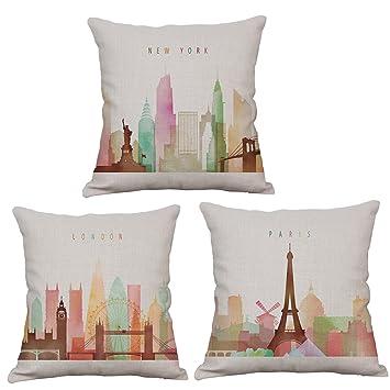 Amazon.com: Aremazing - Funda de almohada de lino y algodón ...