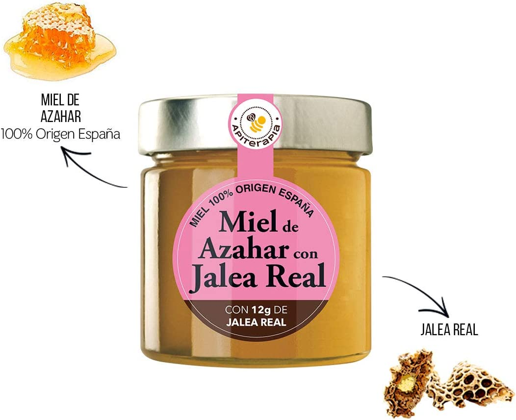 Apiterapia - Miel de Azahar con Jalea Real - Miel Origen España - 300 g: Amazon.es: Alimentación y bebidas