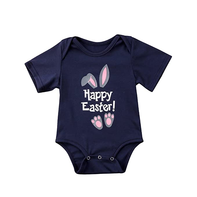 US Seller Toddler Baby Boy Girls Easter Bunny Romper Bodysuit Jumpsuit Outfits