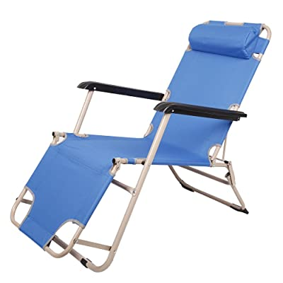 Dporticus Zero Gravity Chair Folding Recliner with a Removable/Adjustable Pillow: Kitchen & Dining